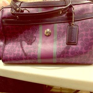 Purple Coach bag! Never used!